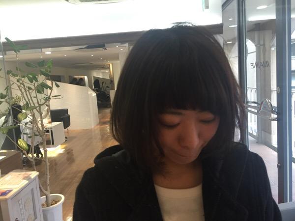 初めてKANAKOの髪切った